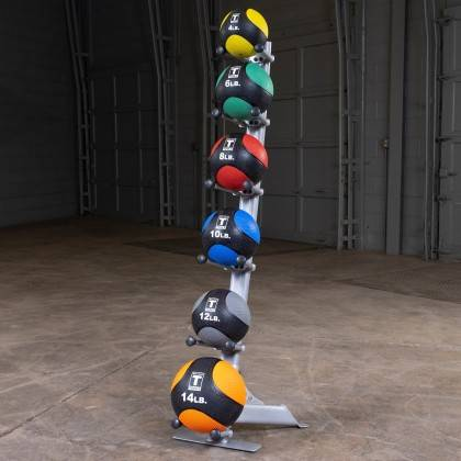 Stojak na piłki lekarskie Body-Solid GMR10 | 6 uchwytów,producent: Body-Solid, zdjecie photo: 3 | online shop klubfitness.pl | s