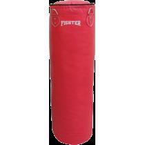 Worek treningowy 120x35cm Fighter Vinyl Red | wypełniony FIGHTER - 1 | klubfitness.pl | sprzęt sportowy sport equipment