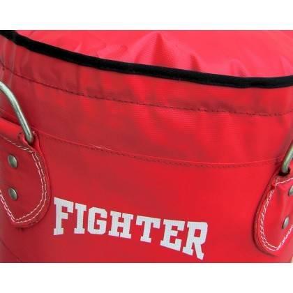Worek treningowy 120x35cm Fighter Vinyl Red | wypełniony FIGHTER - 3 | klubfitness.pl | sprzęt sportowy sport equipment