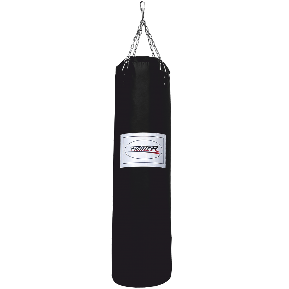 Worek treningowy 150x35cm Fighter Vinyl Black | wypełniony,producent: FIGHTER, zdjecie photo: 1 | online shop klubfitness.pl | s