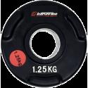 Obciążenie gumowane olimpijskie inSPORTline 1,25kg | czarne Insportline - 1 | klubfitness.pl