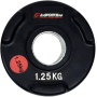 Obciążenie gumowane olimpijskie inSPORTline 1,25kg   czarne,producent: Insportline, zdjecie photo: 1   klubfitness.pl   sprzęt s