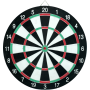 Tarcza dart na ostre rzutki | dwustronna | średnica 41cm NONAME - 1 | klubfitness.pl
