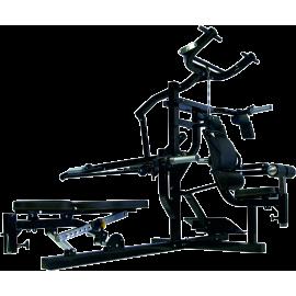 Atlas wielofunkcyjny na wolne obciążenia Powertec WB-MS14-B | czarny Powertec - 1 | klubfitness.pl | sprzęt sportowy sport equip