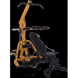 Atlas wielofunkcyjny Powertec WB-LS16-YY Levergym | izolowane ramiona Powertec - 1 | klubfitness.pl | sprzęt sportowy sport equi