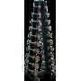 Zestaw hantli chromowanych HMS Premium HH na stojaku | 1kg-10kg | skok co 1kg HMS - 7 | klubfitness.pl | sprzęt sportowy sport e