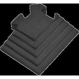 Podłoga gumowa Gymfloor® GF-PM-17-C | 100x85mm | narożnik ze skosem Gym-Floor - 1 | klubfitness.pl
