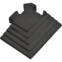 Podłoga gumowa Gymfloor® GF-PM-17-C | 100x85mm | narożnik ze skosem Gym-Floor - 3 | klubfitness.pl