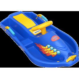 Skuter śnieżny z kierownicą dla dzieci Snow Boat niebieski NONAME - 1 | klubfitness.pl