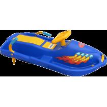 Skuter śnieżny z kierownicą dla dzieci Snow Boat niebieski NONAME - 4 | klubfitness.pl | sprzęt sportowy sport equipment