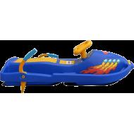Skuter śnieżny z kierownicą dla dzieci Snow Boat niebieski NONAME - 5 | klubfitness.pl | sprzęt sportowy sport equipment