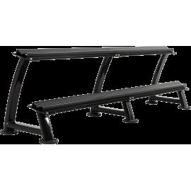 Stojak na hantle Ironsports® R-3074-B czarny | 2 poziomy,producent: IRONSPORTS, zdjecie photo: 1 | klubfitness.pl | sprzęt sport