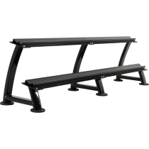 Stojak na hantle Ironsports® R-3074-B czarny | 2 poziomy IRONSPORTS - 1 | klubfitness.pl