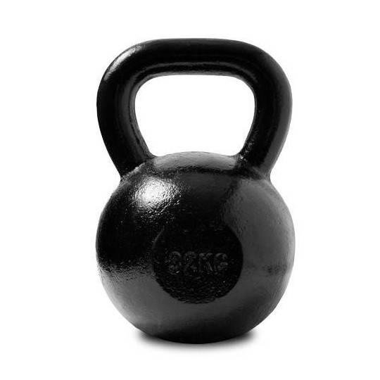 Hantla żeliwna SPARTAN KETTLEBELL 32kg czarna SPARTAN SPORT - 1 | klubfitness.pl | sprzęt sportowy sport equipment