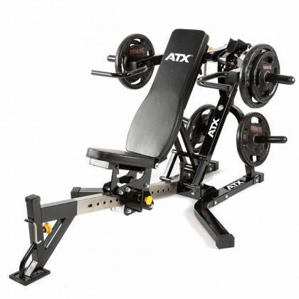 Ławka treningowa izolowane ramiona ATX® LMP-650 | wolne obciążenia ATX® - 12 | klubfitness.pl