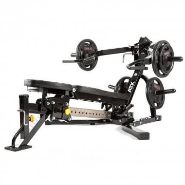 Ławka treningowa izolowane ramiona ATX® LMP-650 | wolne obciążenia ATX® - 14 | klubfitness.pl