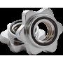 Zacisk chromowany gwiazdowy Stayer Sport | na gryf o średnicy 27mm,producent: Stayer Sport, zdjecie photo: 1 | klubfitness.pl |