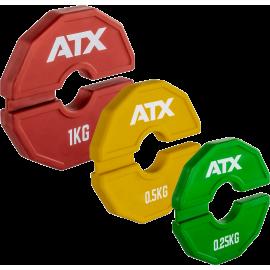 Obciążenia gumowane flex ATX® AD-RFCP | waga: 0,25kg ÷ 1,0kg ATX® - 15 | klubfitness.pl