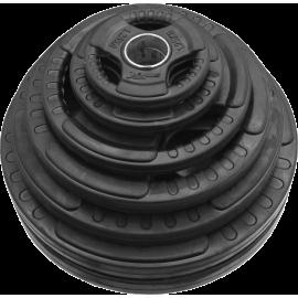 Zestaw obciążeń olimpijskich  gumowanych Stayer Sport NRB160 | waga 160kg Stayer Sport - 1 | klubfitness.pl | sprzęt sportowy sp