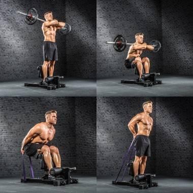 Stanowisko do ćwiczeń niskiego przysiadu ATX® SYS-710 Sissy Squat Master Pro ATX - 6 | klubfitness.pl | sprzęt sportowy sport eq