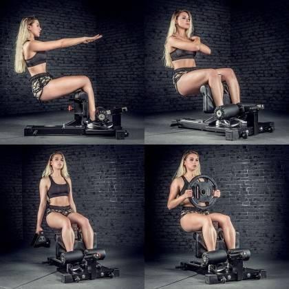 Stanowisko do ćwiczeń niskiego przysiadu ATX® SYS-710 Sissy Squat Master Pro ATX - 8 | klubfitness.pl | sprzęt sportowy sport eq