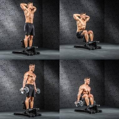 Stanowisko do ćwiczeń niskiego przysiadu ATX® SYS-710 Sissy Squat Master Pro ATX - 9 | klubfitness.pl | sprzęt sportowy sport eq