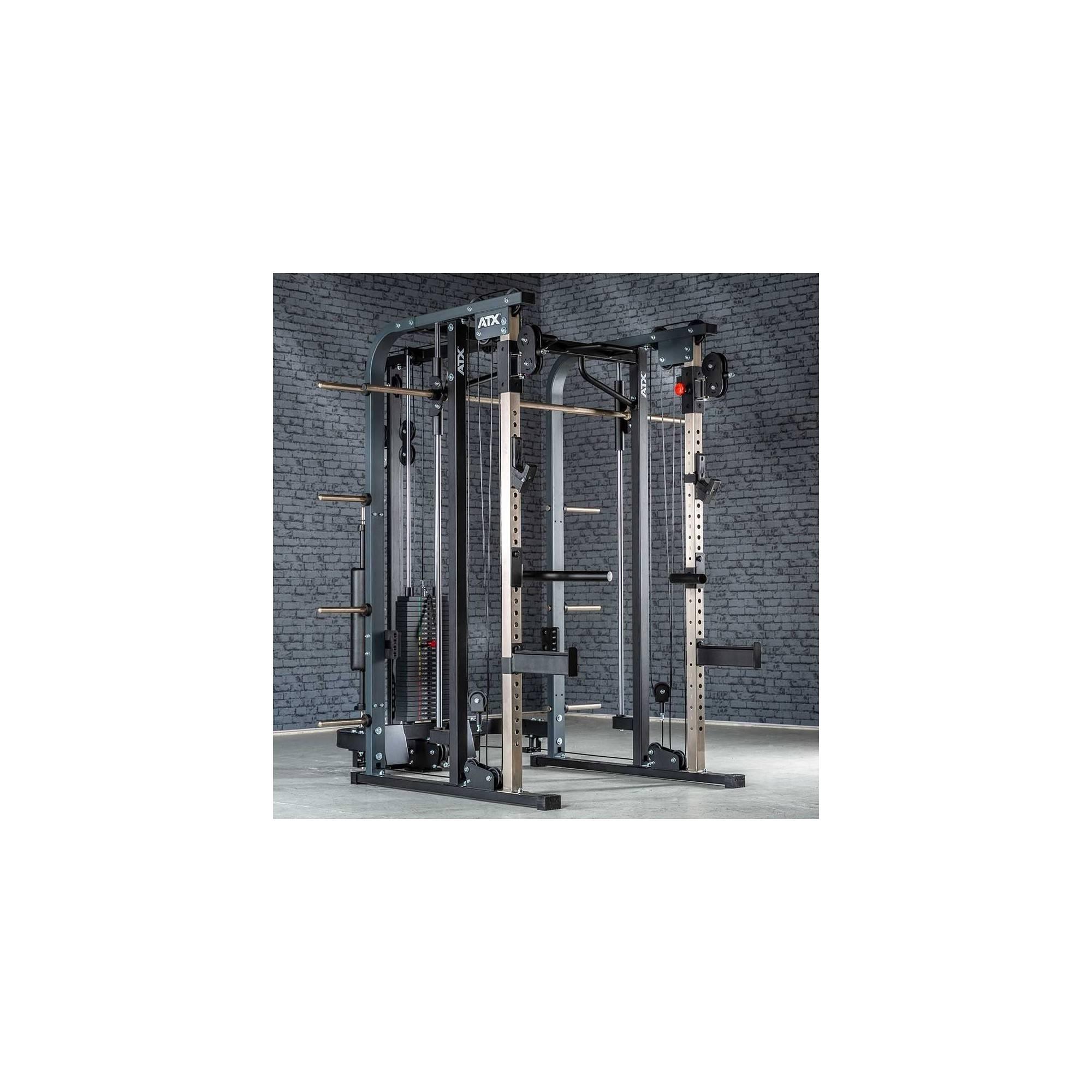 Brama z suwnicą Smith'a ATX® SCR-680-SW | wyciąg ze stosem 125kg ATX® - 1 | klubfitness.pl