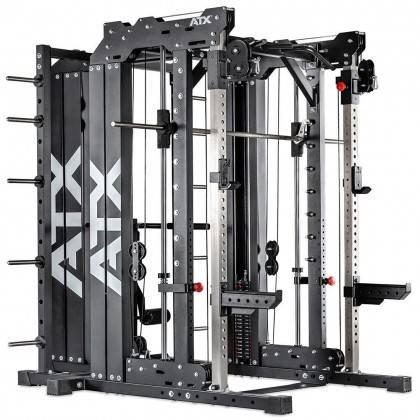 Brama z suwnicą Smith'a wyciągiem 125kg & stacją dip ATX® SCR-760-KPS-SW | brama 2x55kg ATX® - 1 | klubfitness.pl