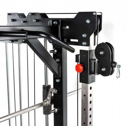 Brama z suwnicą Smith'a wyciągiem 125kg & stacją dip ATX® SCR-760-KPS-SW | brama 2x55kg ATX® - 8 | klubfitness.pl