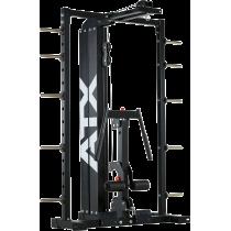 Brama z suwnicą Smith'a wyciągiem 125kg & stacją dip ATX® SCR-760-KPS-SW | brama 2x55kg ATX® - 11 | klubfitness.pl