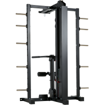 Brama z suwnicą Smith'a wyciągiem 125kg & stacją dip ATX® SCR-760-KPS-SW | brama 2x55kg ATX® - 13 | klubfitness.pl