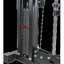 Brama z suwnicą Smith'a wyciągiem 125kg & stacją dip ATX® SCR-760-KPS-SW | brama 2x55kg ATX® - 14 | klubfitness.pl