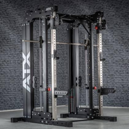 Brama z suwnicą Smith'a wyciągiem 125kg & stacją dip ATX® SCR-760-KPS-SW | brama 2x55kg ATX® - 15 | klubfitness.pl