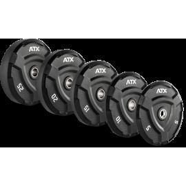 Obciążenie gumowane olimpijskie ATX® 50-ATX-FQX | waga: 5kg ÷ 25kg ATX® - 11 | klubfitness.pl