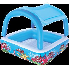 Basen pompowany dla dzieci Bestway Canopy Play Pool 147x147x122cm | 52192 Bestway - 1 | klubfitness.pl
