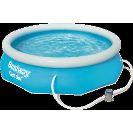 Basen pompowany Bestway Fast Set Pool 305x76cm + pompa| 57270 blue Bestway - 1 | klubfitness.pl