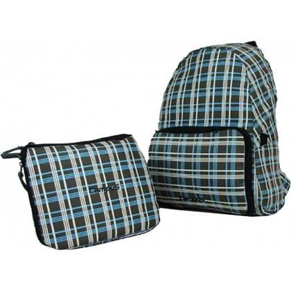 Plecak składany Campus Pack 15   grafitowy kratka   15 litrów,producent: Campus, zdjecie photo: 2   online shop klubfitness.pl  