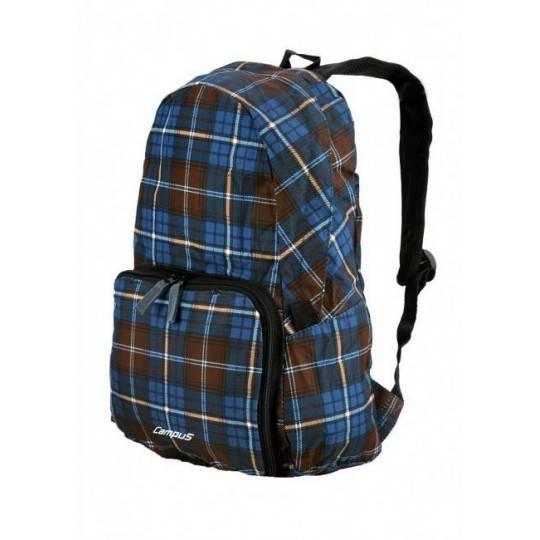 Plecak składany Campus Pack 15 | granatowy kratka | 15 litrów,producent: Campus, zdjecie photo: 1