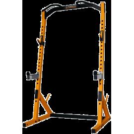 Brama half rack Powertec WB-HR19 Yellow | podpory bezpieczeństwa | drążek Powertec - 1 | klubfitness.pl