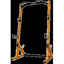 Brama half rack Powertec WB-HR19 Yellow   podpory bezpieczeństwa   drążek Powertec - 1   klubfitness.pl