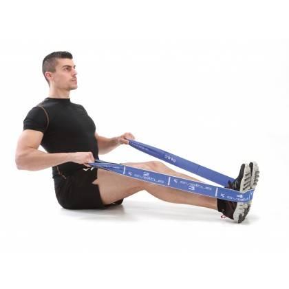 Elastyczna taśma do ćwiczeń Elastiband® 20kg | długość 90cm | niebieska Sveltus - 2 | klubfitness.pl