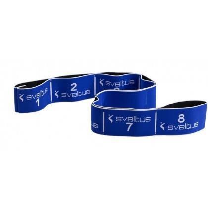 Elastyczna taśma do ćwiczeń Elastiband® 20kg | długość 90cm | niebieska Sveltus - 1 | klubfitness.pl