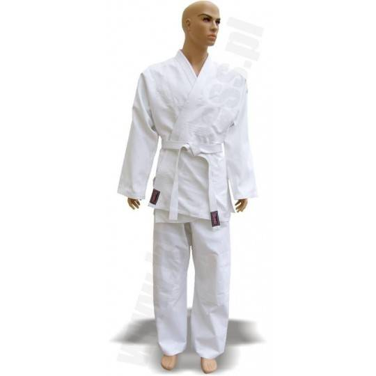 Kimono do judo 16oz FIGHTER białe z pasem,producent: FIGHTER, photo: 1