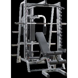 Brama Body-Solid GS348QP4 suwnica Smith'a | wyciąg linowy ze stosem 95kg BodySolid - 1 | klubfitness.pl