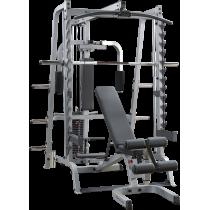 Brama Body-Solid GS348QP4 suwnica Smith'a   wyciąg linowy ze stosem 95kg BodySolid - 1   klubfitness.pl