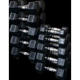 Hantle hex Body-Solid HEXRU1-10 | guma uretanowa | 1kg-10kg pary BodySolid - 1 | klubfitness.pl