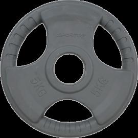 Obciążenie olimpijskie Sportop 5kg grey | gumowane VICTORIA-SPORT - 1 | klubfitness.pl