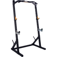Brama half rack WB-HR19-B Powertec Black | podpory bezpieczeństwa | drążek Powertec - 1 | klubfitness.pl