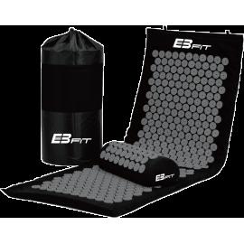 Mata akupresura masaż 128x48x2cm EbFit czarno-szara z poduszką EB FIT - 1 | klubfitness.pl