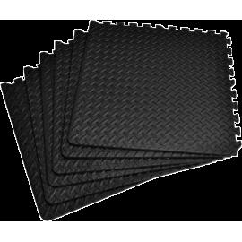 Mata amortyzująca puzzle 60x60x1.0cm EB-Fit black | 6szt EB FIT - 1 | klubfitness.pl